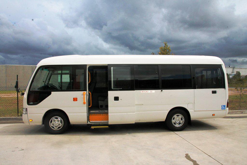 Uniting Care Toyota Coaster Bus Wheelchair Conversion